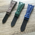 New Arrived 28MM AP Watchbands,4 Styles to Choose,White/Black/Red/Green Line,Genuine Leather Watch Straps,Free Shipping