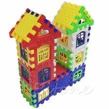 2018 NEW Kids Crianças Engraçado Casa de Tijolos de Construção Aprendizagem Blocos de Construção Conjunto de Brinquedos