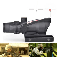 ACOG 4X32 Fiber Source Red Illuminated Scope Picatinny Tactical Hunting