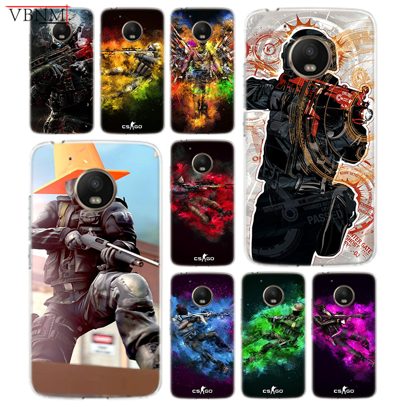 Apprehensive Cs Go Gun Game Panttern Soft Silicone Tpu Case For Motorola G4 Play G5 G5s G6 Plus For Moto E4 E5 Plus Play Art Customized Cover Pretty And Colorful Phone Bags & Cases