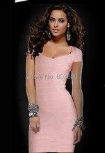 Sexy Verbandkleid, Figurbetontes Kleid Cocktail Party Kleid Mini HL016 # XS S M L