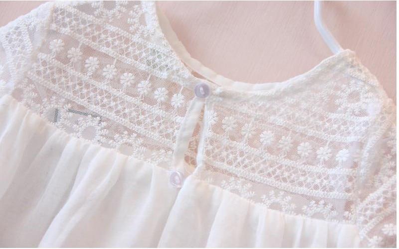 Dziewczęce oddychające koronkowe sukienki Letnie sukienki - Ubrania dziecięce - Zdjęcie 5