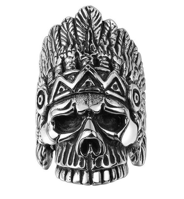 Native American Skull Ring
