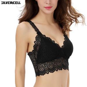 842d25ff46 SILVERCELL Sexy Women Lace Bralette Bralet Bra Bustier