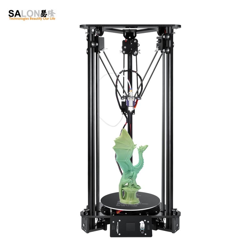 Sinis Tech T1 2018 Haute Vitesse 3D Imprimante Lcd Écran DIY Kit Pour Kossel Linéaire Delta Grande Taille D'impression Facile à Assembler