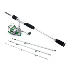 TELE TRAVEL SPIN ROD 76+WRSPIN REEL 350(3+1BB)+LURE COMBO BOX+100M TIMEGO LINE