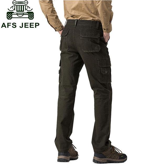 2017 ROPA de Marca Hombres Nuevos Pantalones Otoño Invierno de Algodón de Carga Pantalones casuales Bolsillos de Moda de Alta Calidad Para Hombre Delgado Tamaño de Las Bragas 30 ~ 44