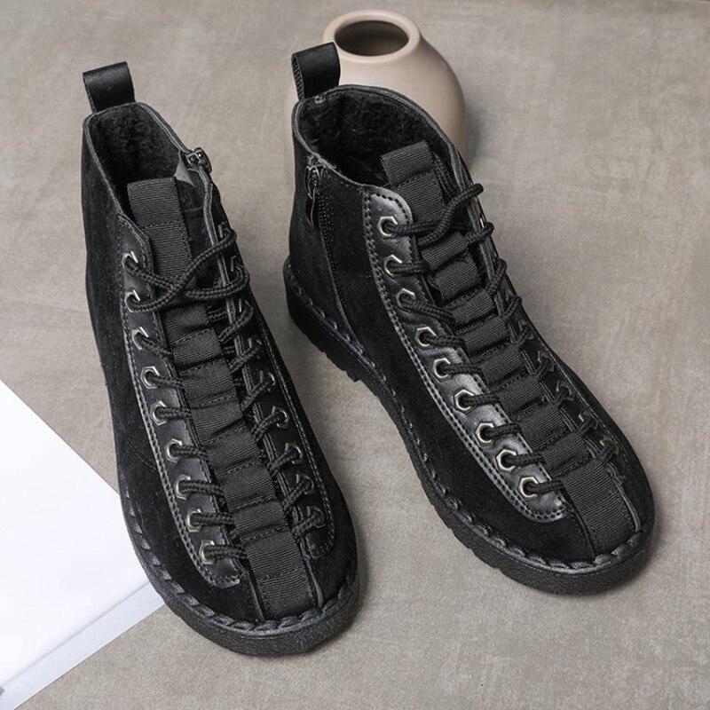 100% Wahr Cootelili Winter Schuhe Frauen Gummi Knöchel Stiefel Für Frauen Schwarz Grundlegende Fashion Lace Up Plüsch Stiefel Weibliche Frauen Schuhe Flache