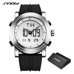 SINOBI Men's Digital Wrist Watch Man Chronograph Watches Waterproof Geneva Quartz Sports Running Watch Clock Relogio Masculino