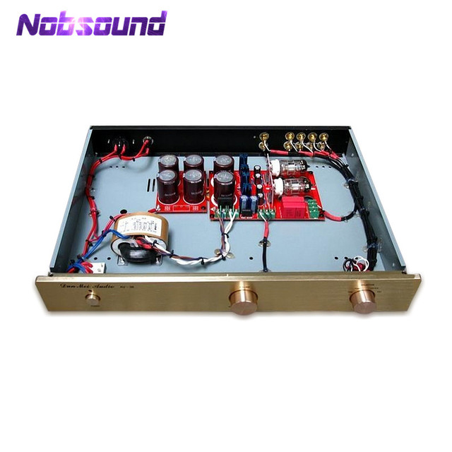 US $179 99 10% OFF|Nobsound 6N11 Tube Amplifier HiFi Tube Pre Amplifier  With Four Input And SRPP Circuit For Home Audio-in Amplifier from Consumer