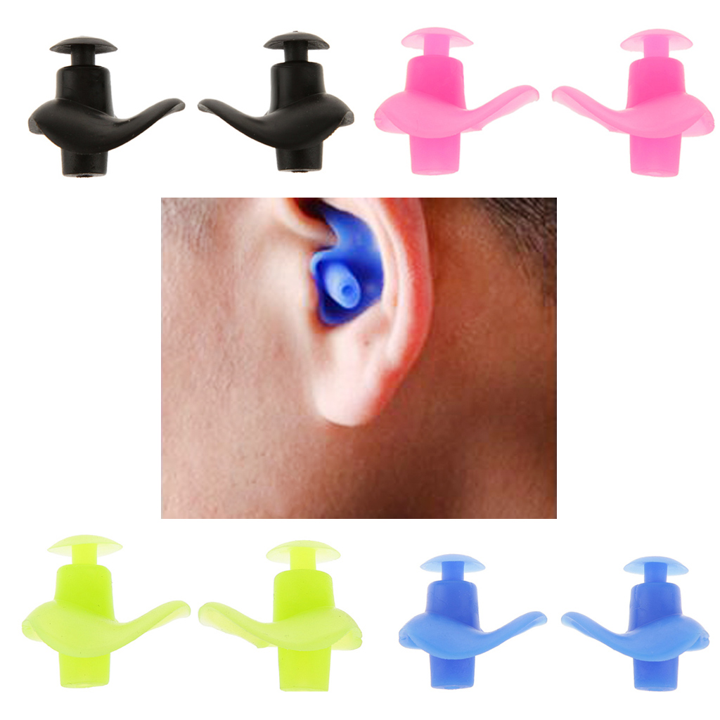 Swim Diving 1 Pair Soft Silicone Ear Plugs Waterproof Dust Proof Sports Swimming Ear Plugs Water Sports Diving Accessories