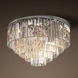 Modern Vintage Chandelier Crystal Flush Ceiling Mounted Light for Home Hotel Decoration
