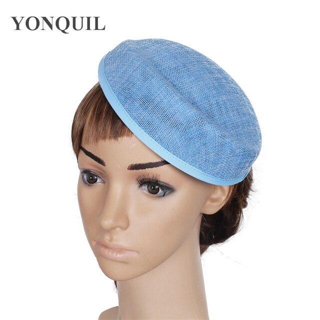 Charming Imitation sinamay LIGHT BLUE Fascinator Base 19CM pillbox hat New  hairwear material Women Party show DIY hair headpiece cd62c8213cb
