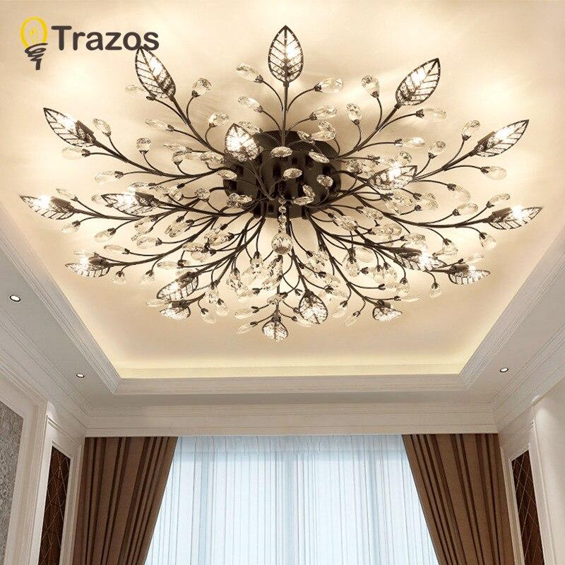 TRAZOS New item fancy ceiling light LED Crystal ceiling lamp modern lamps for living room lights AC110 240V DIY Crystal lighting in Ceiling Lights from Lights Lighting