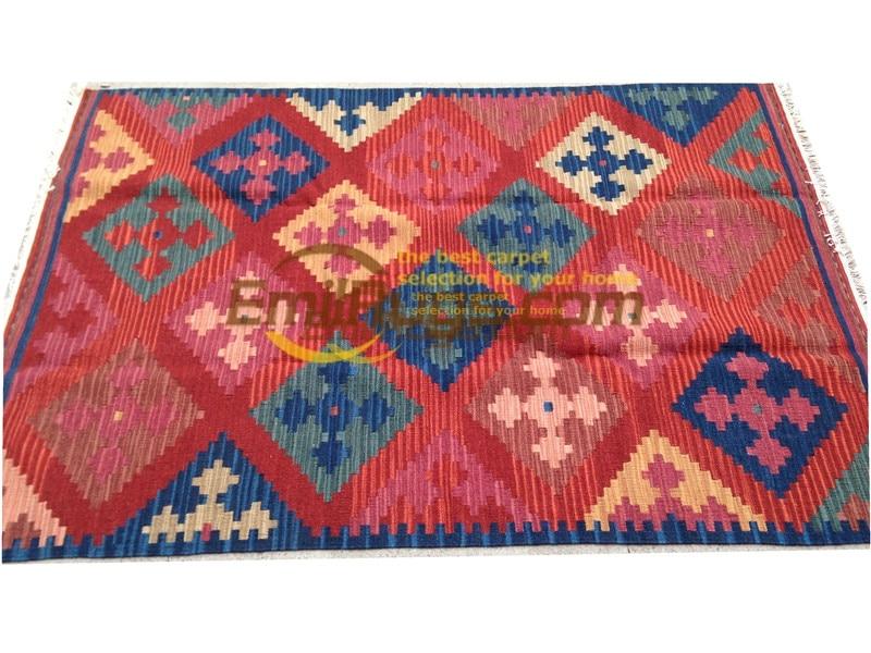 handmade wool kilim rugs living room rug bedroon bedside blanket corridor Mediterranean style 04v4gc131kilimyg4