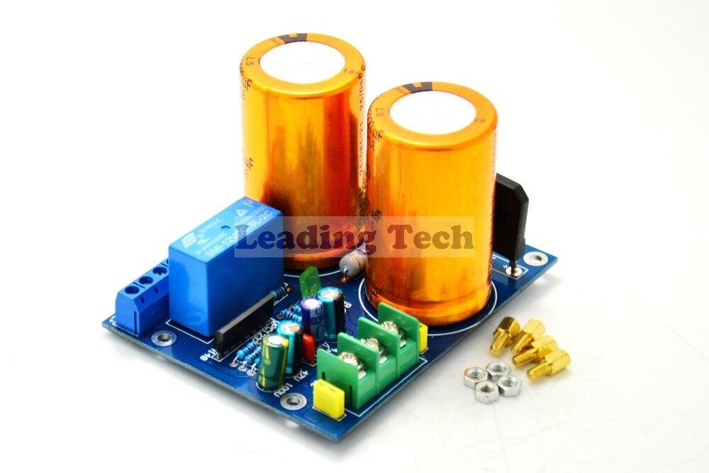 20000U Rectifier Filter Plate With Speaker Protection For TDA7294 Mono Amp Board 12 10000uf 63v rectifier filter power supply board speaker protection for dartzeel amplifier diy kit