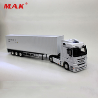 1:50 Scale Diecast Alloy Metal White UN Container Van Truck Vehicles Model Transporter Toys for Children Chirstmas Gift