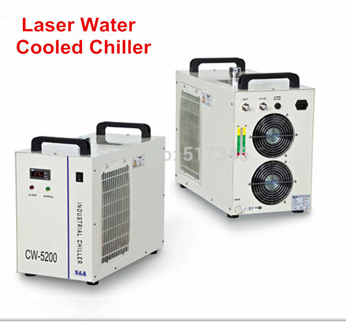 1pc 110/220V  6L Laser Water Cooled Chiller CW5200  60HZ CW5200DG Chiller machine hot sell high quality cw3000 water chiller cooling laser tube for laser machine