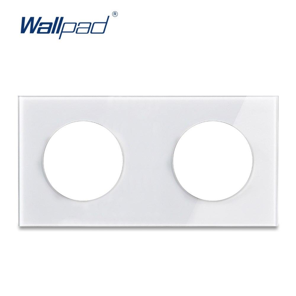 Wallpad Doppel Gehärtetem Glas Panel Nur 172*86mm Weiß Und Schwarz Runde Kreis