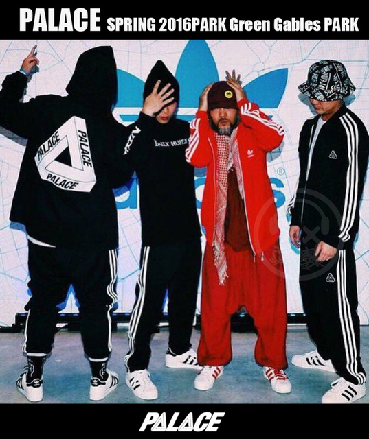 Palacio Pantalones hombres mujeres Hip Hop Kanye West BASCULADOR Hip Hop Cordón Union Triángulo MS Palacio Palacio Otoño Homme Deportivos