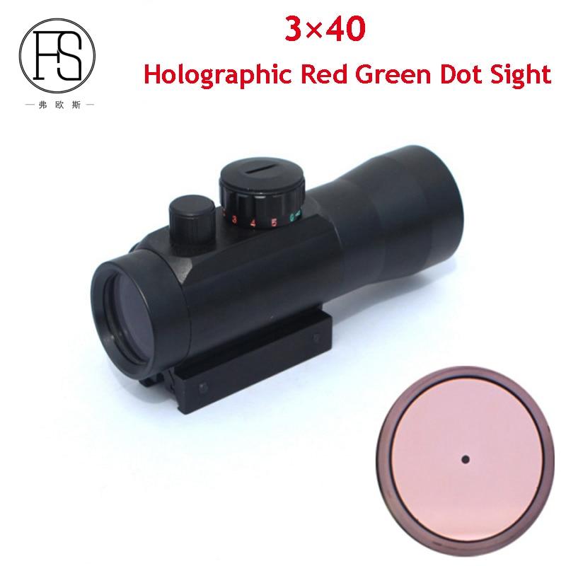 Portée tactique 3X40 holographique point rouge vert portée 3X grossissement adapté Rail Picatinny 11mm et 20mm fusil portée des pistolets à Air comprimé
