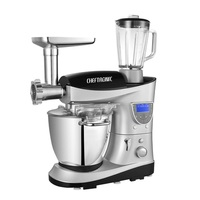 220V 7L Electric Food Mixer Multifunction 1200W Kitchen Food Stand Mixer Cream Egg Whisk Blender With Heating Function Bowl
