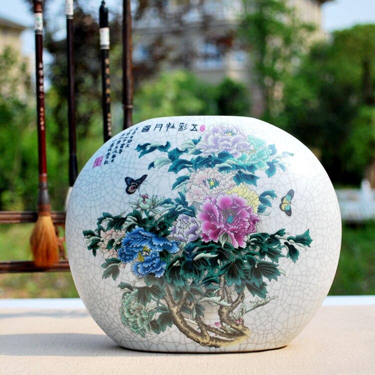 Jingdezhen porcelain vase Archaize kiln vase Modern China handicraft European furnishing articles