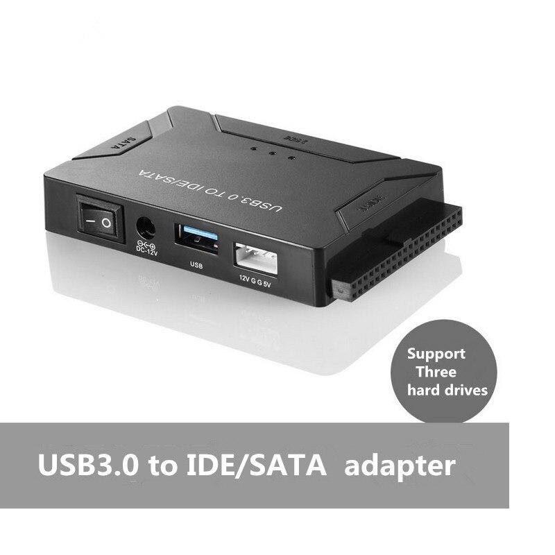 Adaptateur usb ide usb 3.0 vers sata ide convertisseur de disque dur combo pour 2.5