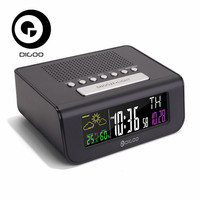 Digoo DG FR100 FR100 Smart Set Wireless Digital Alarm Clock Weather Forecast Sensor Clock With FM