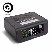 Digoo DG FR100 Smart Set Wireless Digital Alarm Clock Weather Forecast Sensor Clock With FM Radio