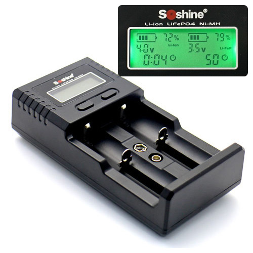 100% Original Soshine H2 Intelligent Lithium LCD Charger For 18650 26650 16340 Li-ion/AA AAA Ni-MH/LiFePO4 9V Battery Haiyan кастрюля bekker bk 1253 3 7 л 20 см