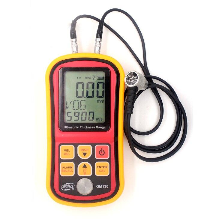 GM130 BENETECH Digital ultrasonic thickness testing gauge meter for metal 300mm steel Resolution 0.01mm