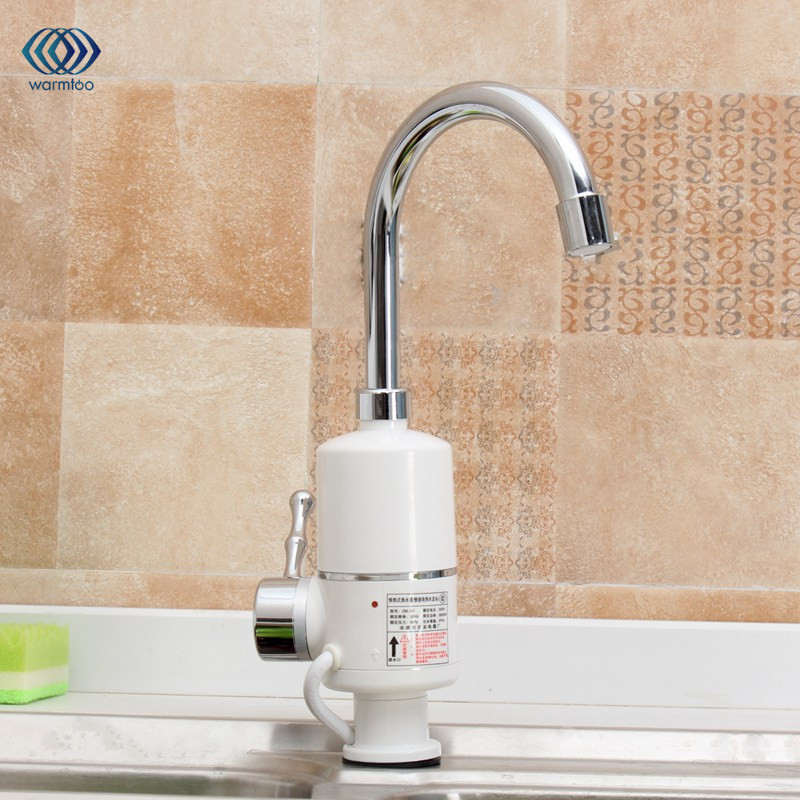 Electric Kitchen Water Heater Tap Instant Hot Water Faucet Heater Cold Heating Faucet Kitchen Tankless Instantaneous 3000W EU/US