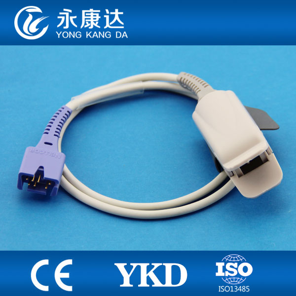 Reusable Adult finger clip SpO2 sensor Db9,7pin 1m lengthReusable Adult finger clip SpO2 sensor Db9,7pin 1m length