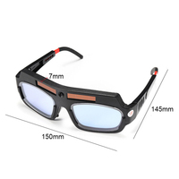 Solar Powered Auto Darkening Welding Mask Helmet Goggle Mayitr Anti Scraping Welder Glasses Arc PC Lens