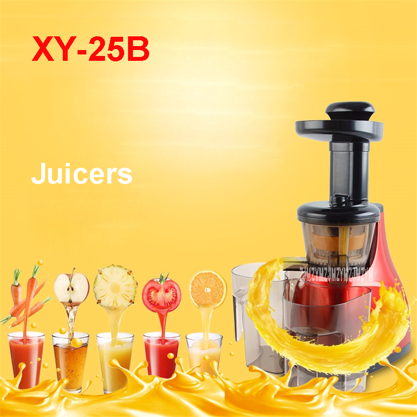 XY-25B 220V/50 Hz  plastic material Juice extractor Soya-bean milk Juicer 65r / min  Multifunctional fruit Juicers Household whole slow juicer 300w 75 cm fruits low speed juice extractor juicers fruit machines