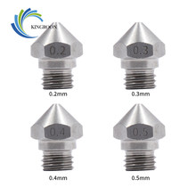 KINGROON 5Pcs MK10 Stainless Steel Nozzle For 3D Printer Parts 0.2/0.3/0.4/0.5/0.6/0.8/1.0mm 1.75mm Filament M7 Thread Nozzles 2(China)