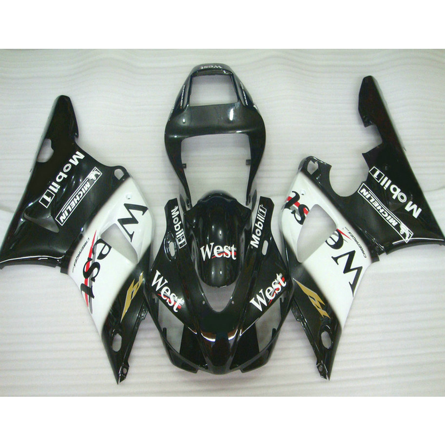 ABS plastic motorcycle injection racing fairings kits for YAMAHA YZF R1 1998 1999 YZFR1 98 99 black west ABS fairing body parts монитор жк dell e2316h 23 черный [316h 1958]