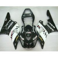 Kits de inyección de carenados de competición de plástico ABS de la motocicleta para YAMAHA YZF R1 1998 1999 YZFR1 98 99 oeste negro ABS carenado partes del cuerpo