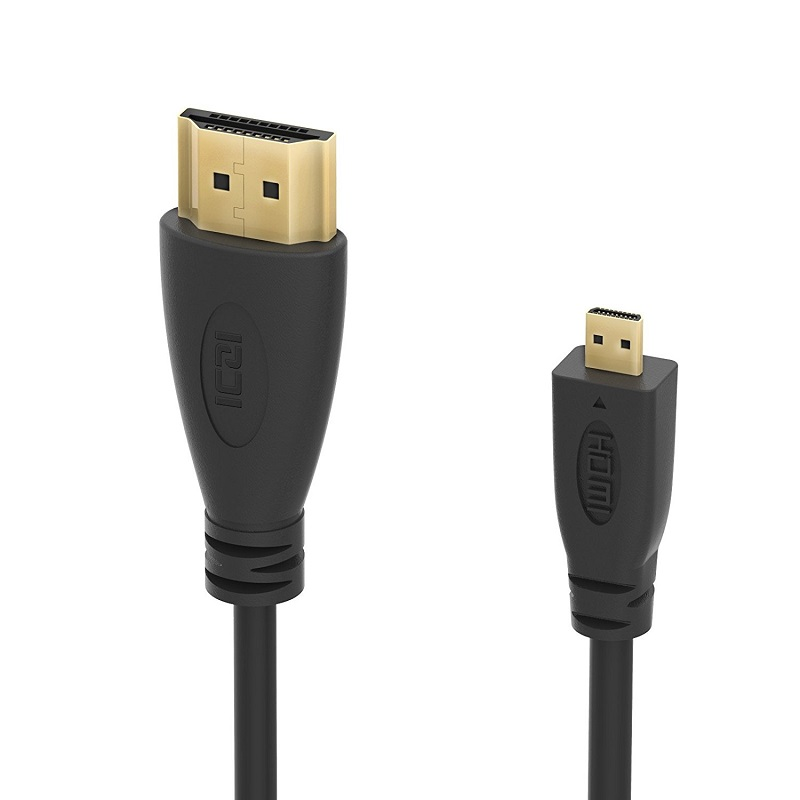 Micro HDMI to HDMI Cable, High-Speed Gold Plated HDTV HDMI to Micro HDMI Cable Adapter Converter, Supports Ethernet, 3D 4K 1080p gold plated nylon braided hdmi cable hdmi 2 0 4k x 2k ethernet support video 4k 2160p hd 1080p 3d 1 5m 3m 5m 10m 15m 20m