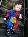 Ape Head Печати Ребенок С Капюшоном Комбинезон Ползунки Боди Пальто Хвост Теплый Детская Одежда Набор Мальчик Девочка восхождение одежды тела