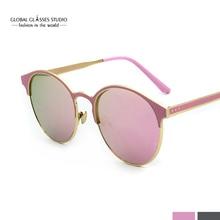 Бесплатная доставка Круглые Солнцезащитные очки женские Брендовая Дизайнерская обувь очки UV400 женские солнцезащитные очки в стиле ретро Óculos де золь Gafa RST007