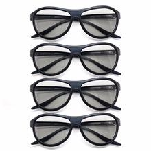 4Pcs lot wymiana AG-F310 okulary 3D spolaryzowane pasywne okulary dla LG TCL Samsung SONY Konka RealD 3D Cinema TV komputer tanie tanio Brak Nie wciągające Tylko okulary W VISFORY W pakiecie 1