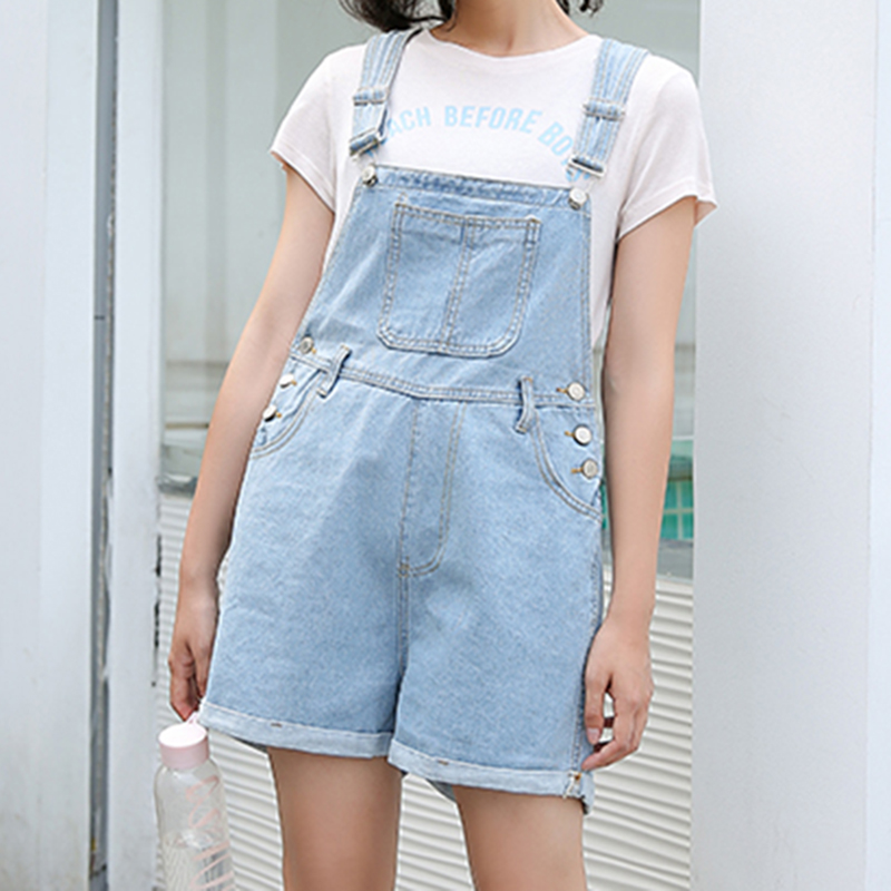 b1409145c5da Detail Feedback Questions about Women Blue High Waist Playsuit Denim  Overalls Korean Style Female Rompers Loose Jean Jumpsuit Summer Fashion  Wide Leg ...