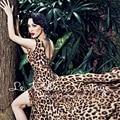 БЕСПЛАТНАЯ ДОСТАВКА Le Palais Винтаж Лимитированная серия 2016 Летний Новый прибытие Sexy V Шеи Leopard Района Wrap Сплит Длинное Платье женщины