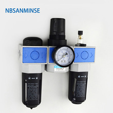 UFRL / FRL Filter + Regulator + Lubricator Source Treatment Unit High Quality G Thread Pneumatic Compressed Air Parts Sanmin стоимость