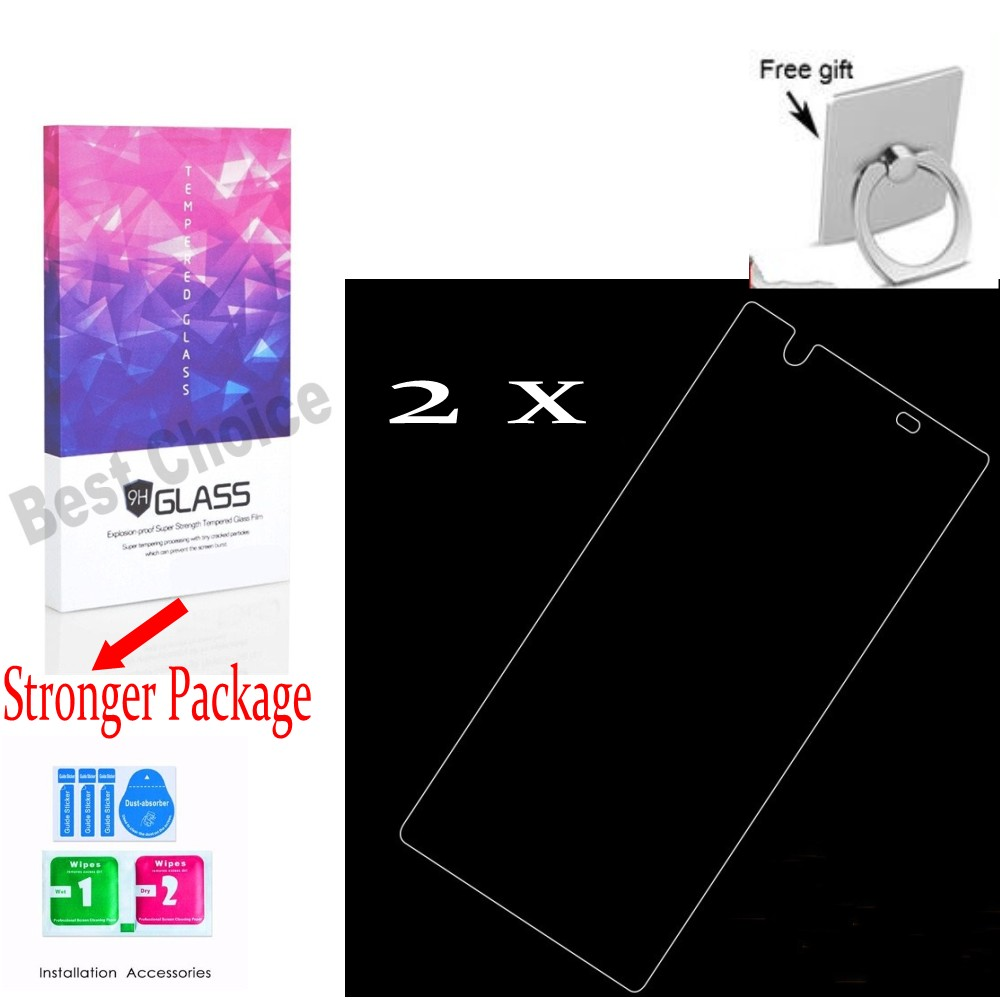 2Pcs Tempered Glass Screen Film For 5.5 inch  Sony Xperia L1 2017 Mobile Phone , Glass Screen for Sony G3312 + Free Gift