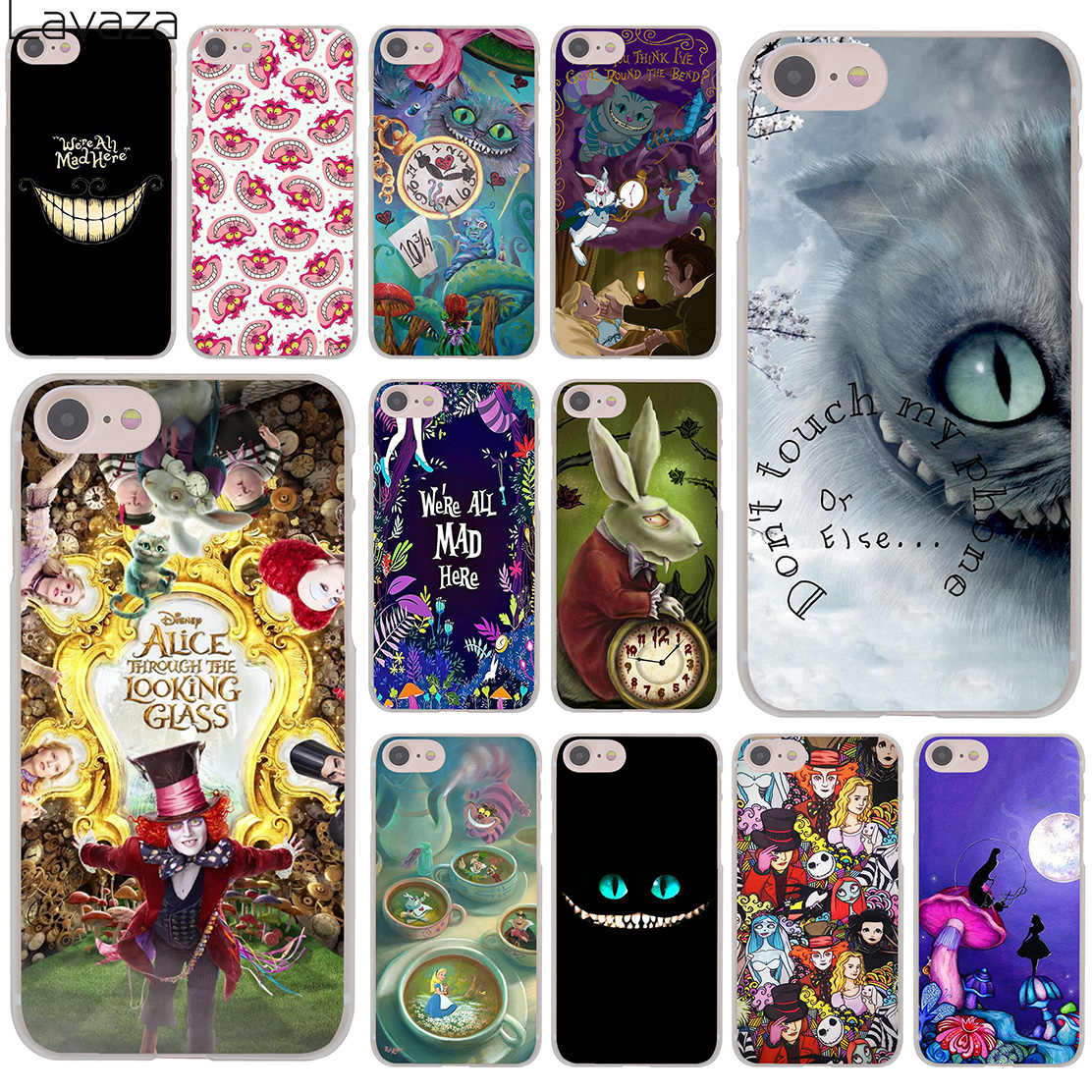 Lavaza Alice in Wonderland cat Hard Phone Cover Case for iPhone XR X 11 Pro XS Max 8 7 6 6S 5 5S SE 4S 4 10