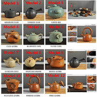 Hot Sale Coarse Pottery Teapot Set Kung Fu Ceramic Tea Accessories Taiwan Side Stoneware Pottery Teapot