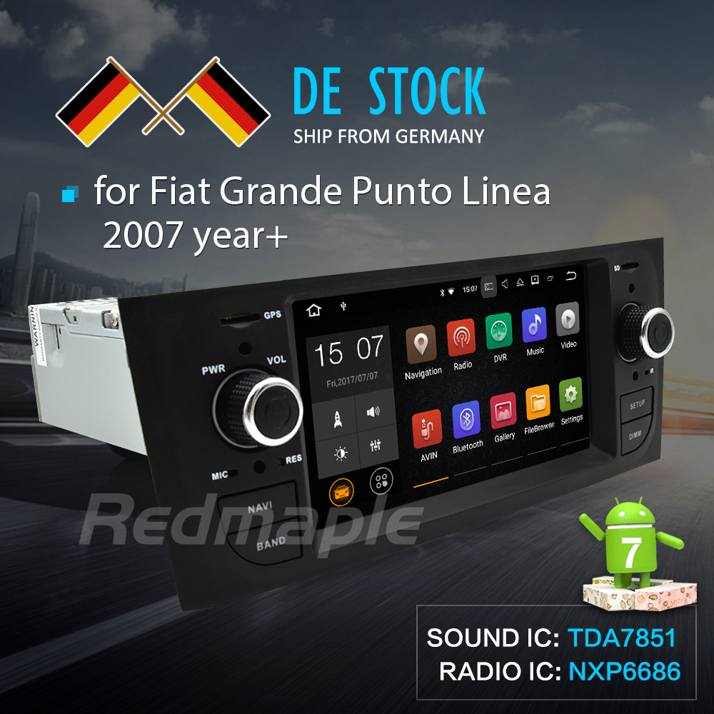 Android 7.1 Car Radio GPS Navigation Multimedia Stereo For Fiat Grande Punto Linea 2006 2007 2008 2009 2010 2011 2012 Auto Audio